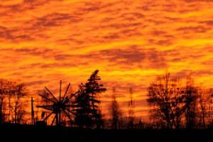 Sonnenuntergang am Kitzeck